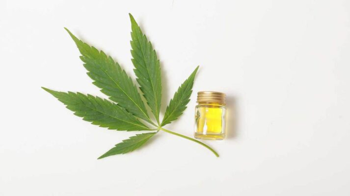 CBD Oil Cannabis Leaf